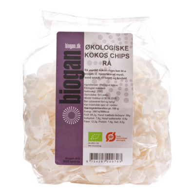 Biogan Kokoschips Rå Ø (200 gr)