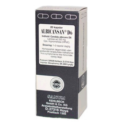 Sanum Albicansan D6 (20 kapsler)