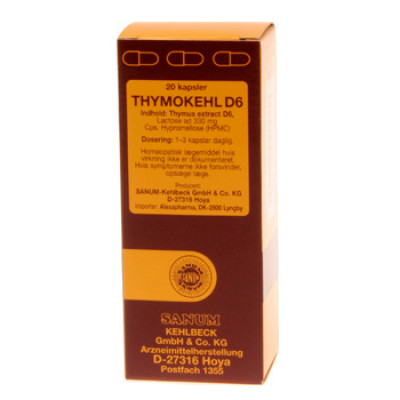 Thymokehl D6 Kapsler, 20 kap