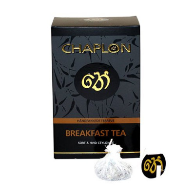 Chaplon Breakfast sort/hvid te Ø (15 breve)