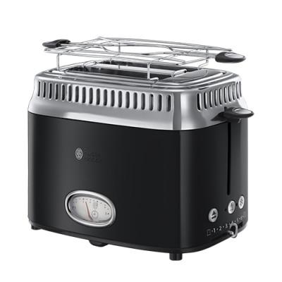 Russell Hobbs Retro Black 2 Slice Toaster