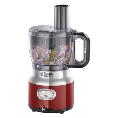 Russell Hobbs Retro Food Processor Red