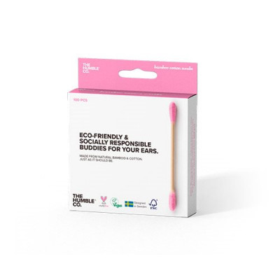The Humble Co. Vatpinde Bamboo Cotton Pink (100 Stk)