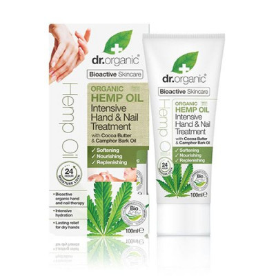 Dr. Organic Hand & Nail Treatment Intensiv Hemp Oil (100 ml)