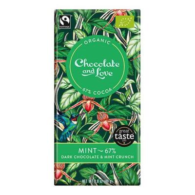 Chocolate and Love Chokolade Mint 67% Ø (80g)
