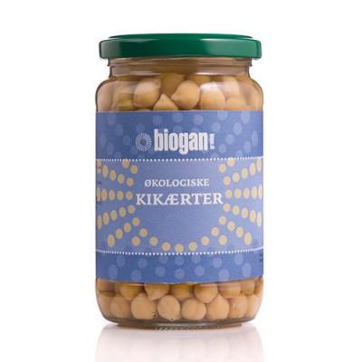 Biogan Kikærter i glas Ø 330 g