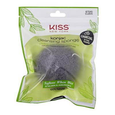 Konjac Sponge charcoal cleansing (1.stk)