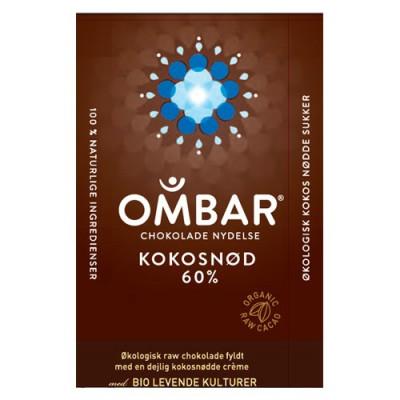 Bar Kokosnød 60 % Ombar Ø (35 gr)