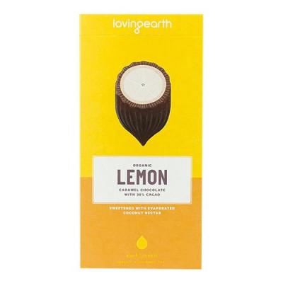 Loving Earth, Chokolade Lemon m. cashew & kokos Ø (80 g.)