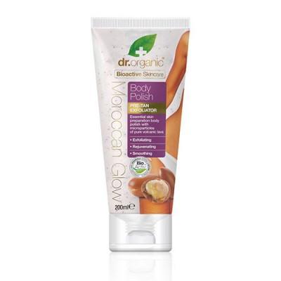 Dr. Organic Moroccan Glow Body polish pre-tan exfoliator