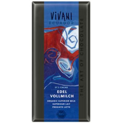 Vivani equador lys chokolade Ø 100 gr.