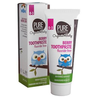 Plan Organic Tandpasta med hindbærsmag