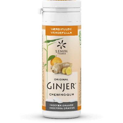 Lemon Pharma Orginal Ginjer Tyggegummi Ø (30 gr)