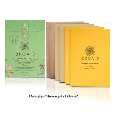 ORGAID Organic sheet mask (6 stk. 3 varianter)