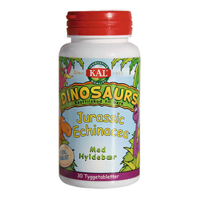 Kal DinoSaurs Jurassic Echinacea med hyldebærsmag (30 tyggetabletter)