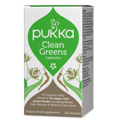 Pukka Clean Greens 400 mg (60 kapsler)