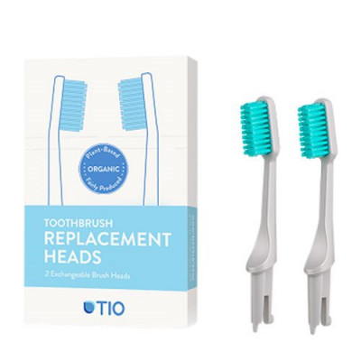 TIO Udskiftelige Tandbørstehoveder Grå (Soft 2 stk)