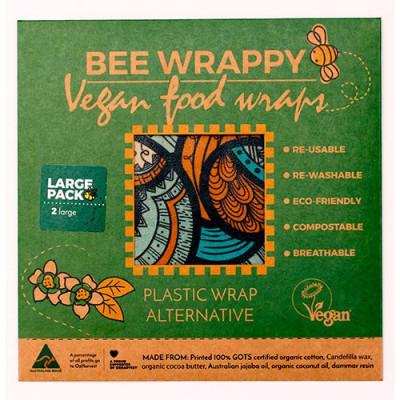 Bee Wrappy Vegan Food Wraps - 2 x large