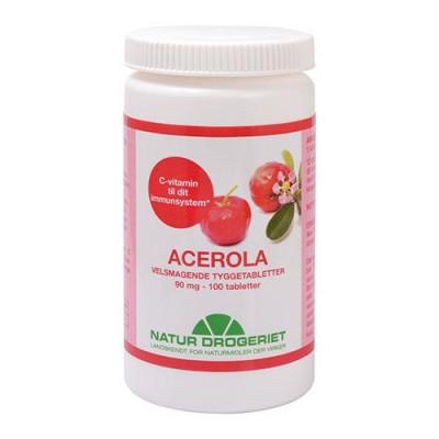 Natur Drogeriet Acerola Natural 90 mg (100 tabletter)