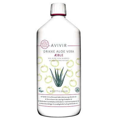Avivir Drikke Aloe Vera 95 % Æble (1 liter)