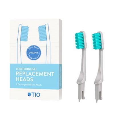TIO Udskiftelige Tandbørstehoveder - Grå (Medium 2 stk)