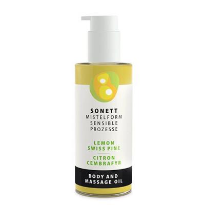 Sonett Krops & Massageolie Citron/ Cembrafyr (145 ml)