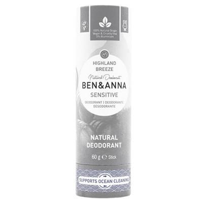 Ben & Anna Sensitive deodorant Highland Breeze Papertube