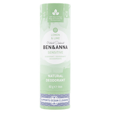 Ben & Anna Sensitive deodorant Lemon & Lime Papertube (60 g)