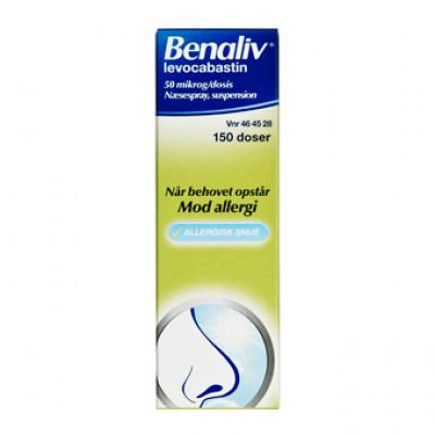Benaliv Næsespray 50 MIKG (150 doser)
