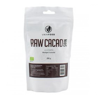 Grofthakkede økologiske cacao nibs (200 g)