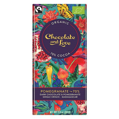 Chocolate and Love - Chocolate Pomegranate 70% Ø (80 g)