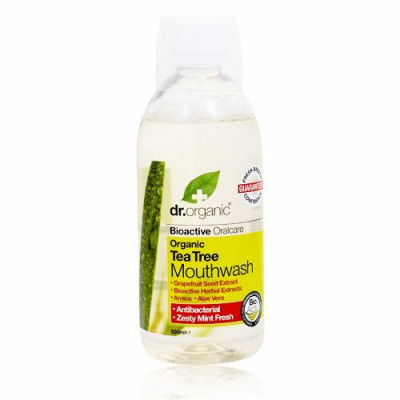 Dr. Organic Tea Tree Mundskyl (500 ml)