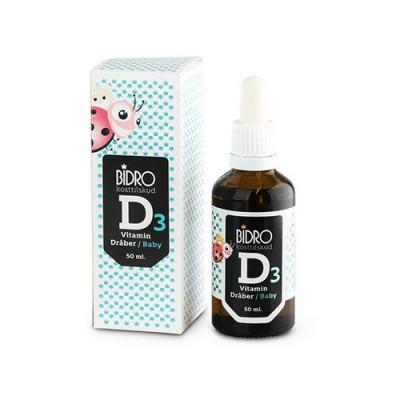 Køb Bidro D3 vitamin dråber baby (50 ml) | 79 kr. | GRATIS FRAGT