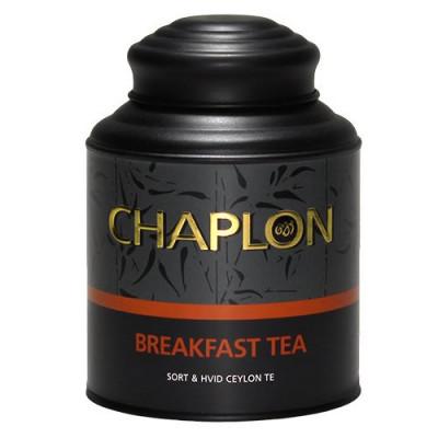 Chaplon Breakfast sort/hvid te dåse Ø (160 g)