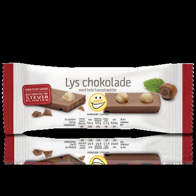 EASIS Lys Chokoladebar m. Nødder (30 g)