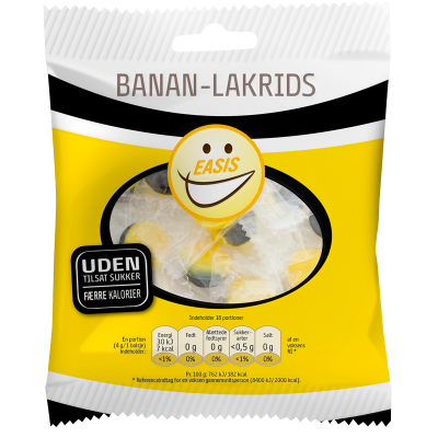 EASIS Banan Lakridsbolsje (70 g)
