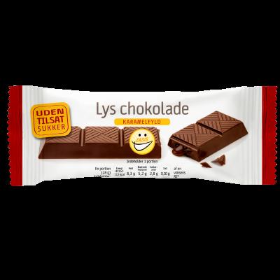 EASIS Lys Chokoladebar Med Karamelfyld (28 g)