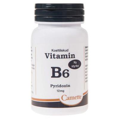 Camette Vitamin B6 12 mg. 90 tabletter