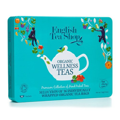 English Tea Shop Gaveæske Te Wellness Ø Organic 36 breve a 6 varianter