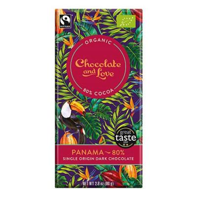Chocolate and Love Chokolade Panama 80% Ø (80g)
