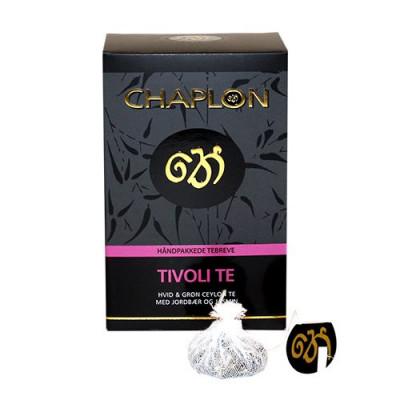Chaplon Tivoli grøn/hvid te Ø (15 breve)