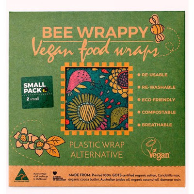 Bee Wrappy Vegan Food Wraps (2 x small)