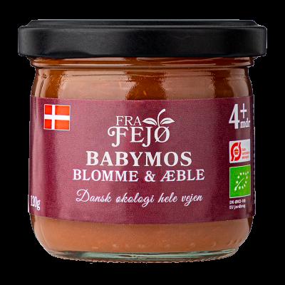 Fra Fejø Babymos Blomme/Æble Ø (120 g)