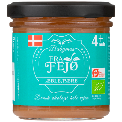 Fra Fejø Babymos Æble/Pære Ø (150 g)