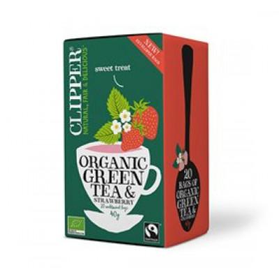 Clipper Grøn Te m. Jordbær Ø (40 g)