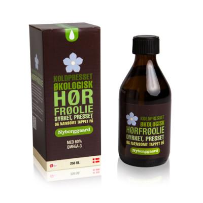 Nyborggaard Hørfrøolie Koldpresset Ø (250 ml)