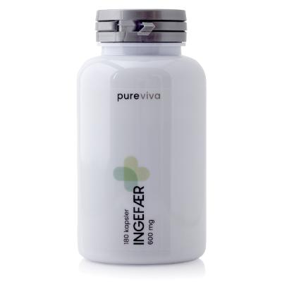 Pureviva Ingefær (600 mg) (180 kap)