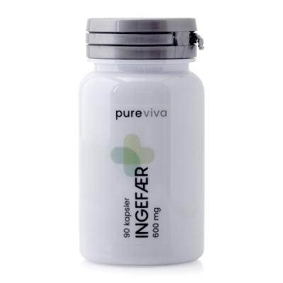 Pureviva Ingefær (600 mg) (90 kap)