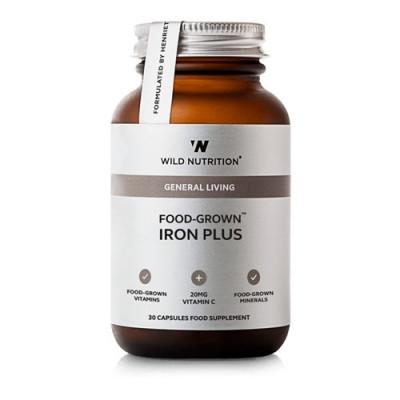 Wild Nutrition Food-Grown Iron Plus (30 kaps)