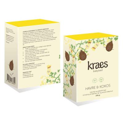 Kraes Babybad - Havre & Kokos (200 g)